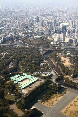 Tokyo Imperial palace, aerial photography