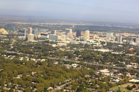 Sacramento City California USA, aerial view Stock Photo