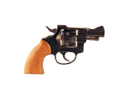 protecting: revolver Stock Photo