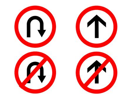 no u turn sign: traffic Signs