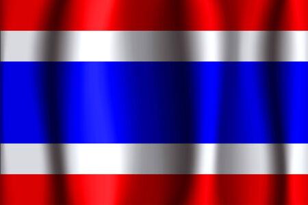 thai silk: Thailand waving flag