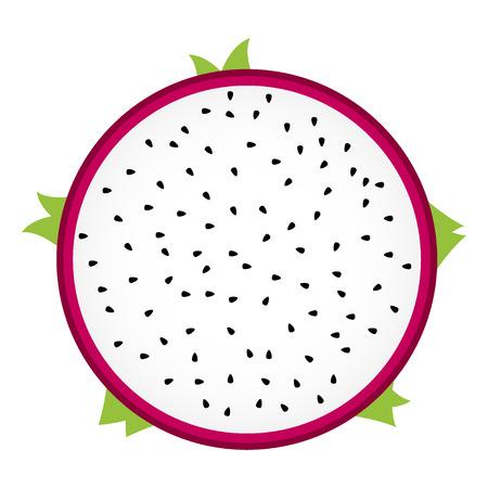 dragon fruit: dragon Fruit sliced in half