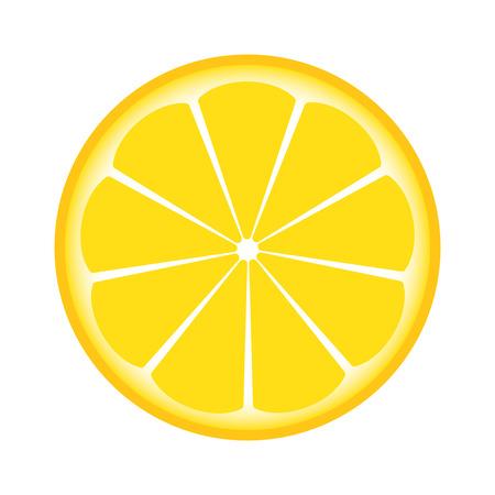 limon caricatura: limón cortado por la mitad Vectores