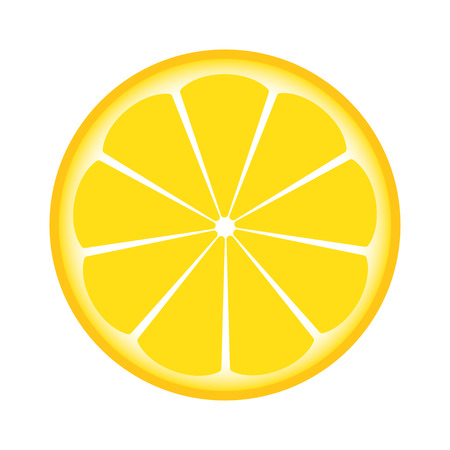 lemon sliced in half Illustration