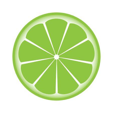 half: lemon sliced in half Illustration
