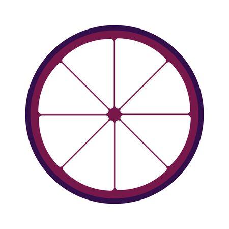 mangosteen: mangosteen sliced in half Illustration
