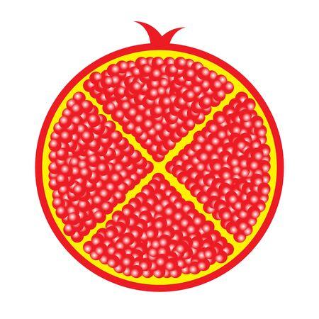 half: ruby sliced in half Illustration