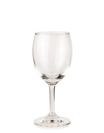 glass cup: Empty wine glass isolated on a white background