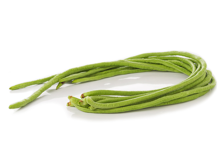 long bean: Long bean isolated on white background Stock Photo
