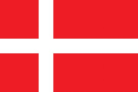all european flags: Flag of Denmark Illustration