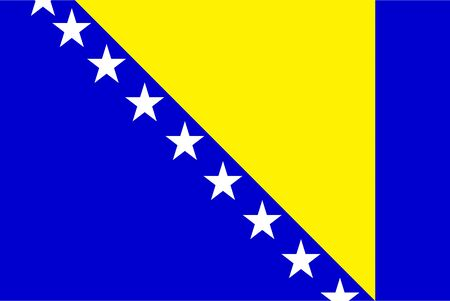 all european flags: Flag of Bosnia and Herzegovina