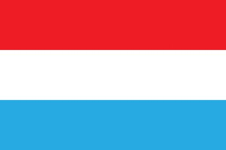 all european flags: Flag of Luxembourg Illustration