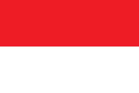 all european flags: Flag of Monaco Illustration