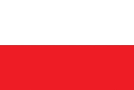 all european flags: Flag of Poland Illustration