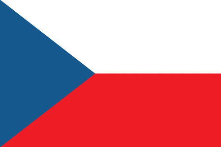 all european flags: Flag of the Czech Republic