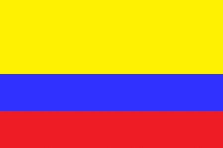 Flag of Colombia Иллюстрация