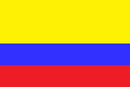 waving flag: Flag of Colombia Illustration