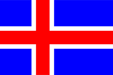 all european flags: Flag of Iceland