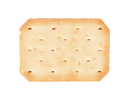 sesame seed: Biscuits with sesame seed on white background