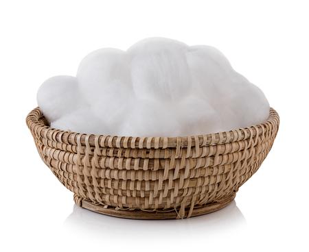 cotton wool: cotton wool on white background