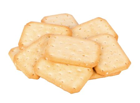 sesame cracker: Biscuits with sesame seed on white background