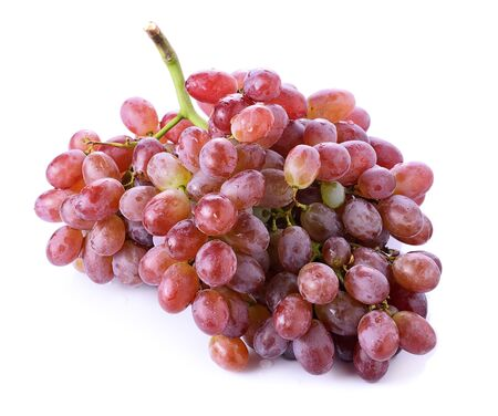seedless: red seedless grapes isolated on white background