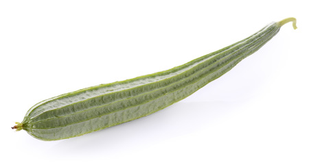 fresh loofah on the white background Stock Photo