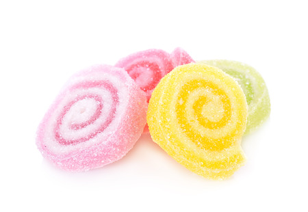 suger: sweets made from sugar on white background Stock Photo