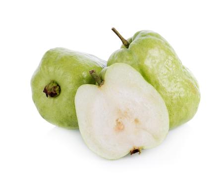 guayaba: guava fruit isolated on white background Foto de archivo