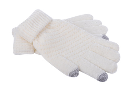 Winter Gloves isolated on a white