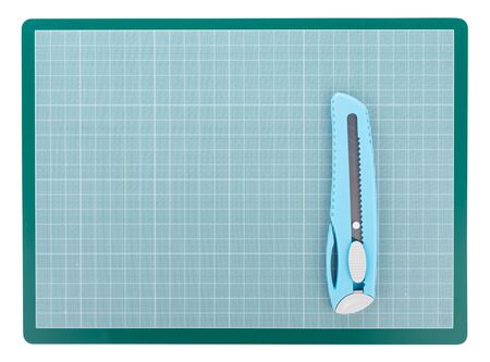 Green Cutting mat isolated on white background Фото со стока