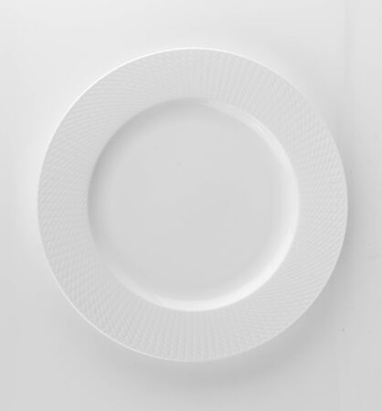white plate isolated on white background Фото со стока