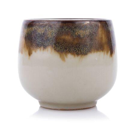 ceramics bowl isolated on white background 版權商用圖片