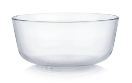 Empty bowl on white background