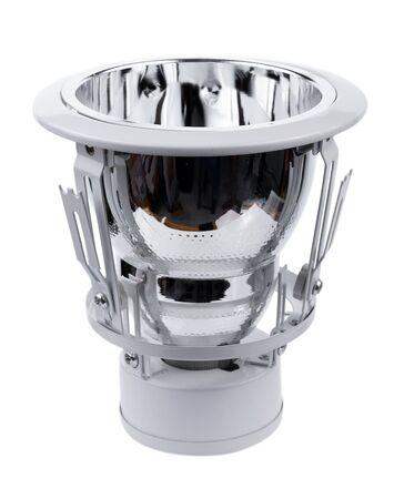 Recessed ceiling LED lamp on white b 版權商用圖片