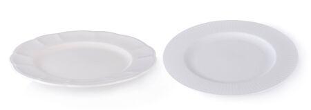 white plate isolated on white background 版權商用圖片