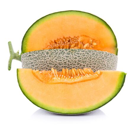 melon isolated on white background Banco de Imagens