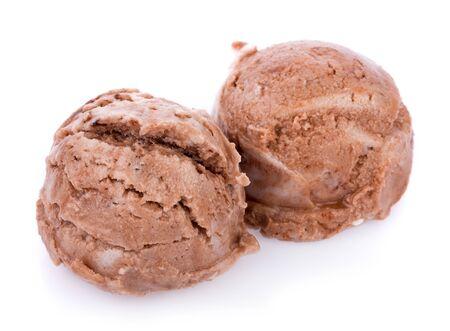 Ice cream scoops on white background Banco de Imagens