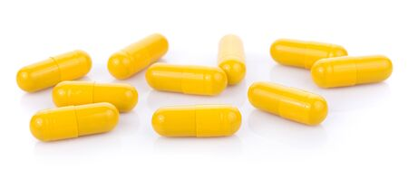 pills capsules isolated on white background 版權商用圖片 - 133399269