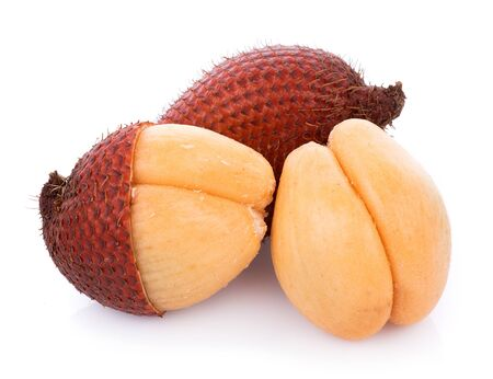Salak fruit, Salacca zalacca isolated on the white background 版權商用圖片 - 132825794