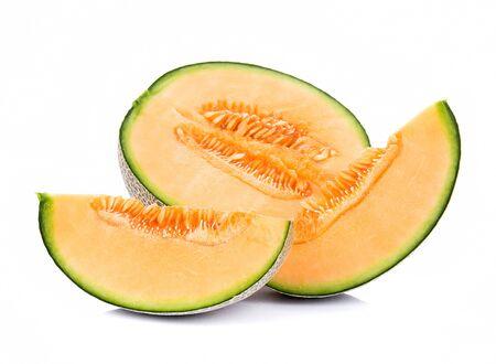 Melone isoliert auf weißem Hintergrund