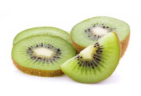 Kiwi fruit isolated on white background 版權商用圖片