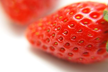 fragaria: Close up macro shot of strawberry
