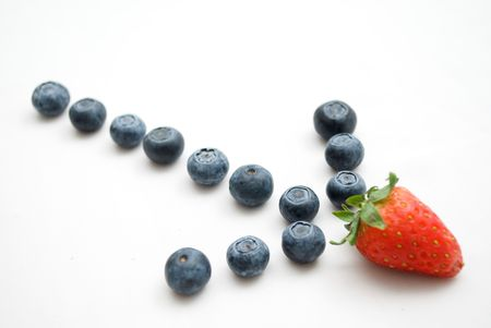 Arrow strawberry and blueberry Stock Photo - 4657906