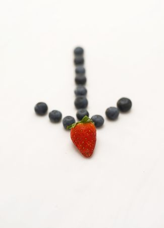 Arrow pointing to strawberries photo