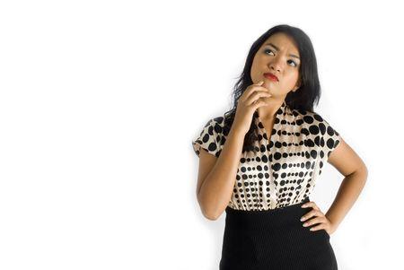 Female business asian woman thinking photo