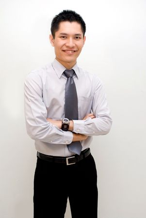 formal shirt: Asian male posing