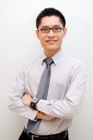 slack: Asian business male posing