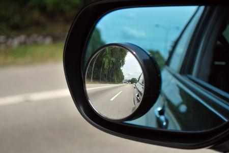 persiana: Auto posteriore a specchio per la sicurezza Archivio Fotografico