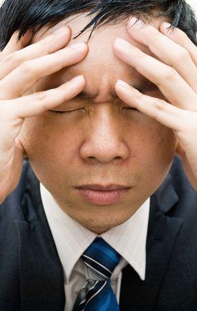 esitazione: Close up of businessman tensione